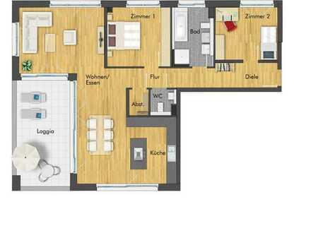 Einzigartige 3-Zimmer Dachgeschosswohnung mit traumhaften Weitblick und Südwestbalkon