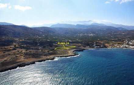 Baugrundstück am Meer von 5746 m2, an der Küste von Milatos, Kreta