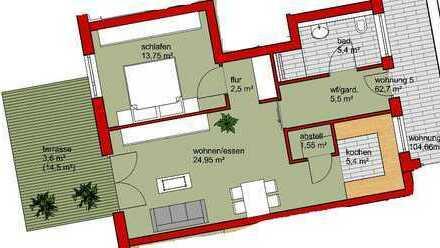 2,5 Zi.- Erdgeschosswohnung mit Garten und TG-Stellplatz