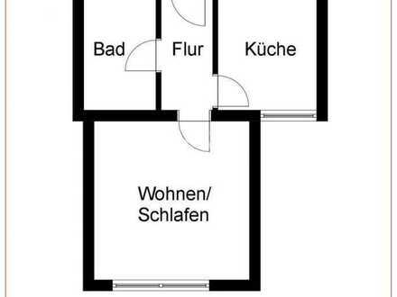 Stilvolle, modernisierte 1-Zimmer-Wohnung mit Einbauküche in Linsenhofen