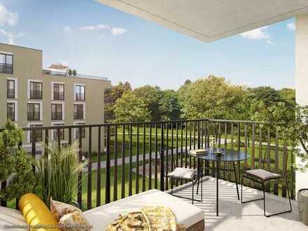 Sonnige 2-Zimmer-Balkonwohnung in Südausrichtung mit großem Wohn-Ess-Kochbereich