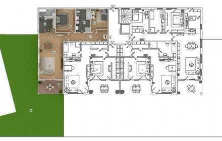 HAUS 1 * West-Carrée * Ampfing • NEUBAU 3-Zi.-Wohnung mit Terrasse und 152 m² Garten (WE 1)