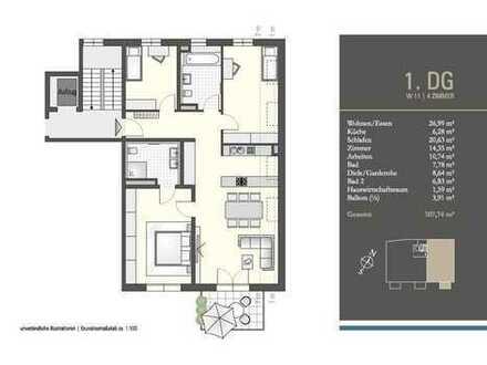 Erstbezug! Stilvolle, großzügige 4-Zimmer-Wohnung mit Südbalkon!