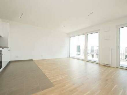Wohnen zum Innenhof, weitläufige Terrasse vom Wohn- und Schlafzimmer begehbar.