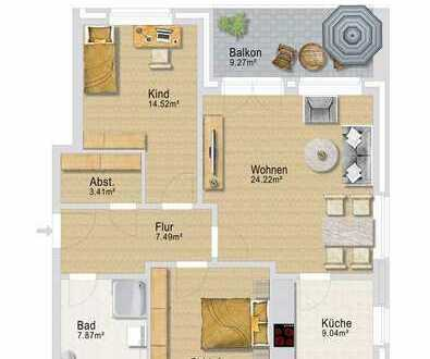 Diese hochwertige Dreizimmer Neubauwohnung mit Balkon und Carport errichtet.