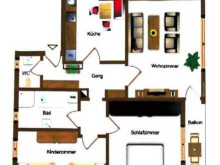 Exklusive, modernisierte 3-Zimmer-Wohnung mit Balkon / Garten / EBK in Baar-Ebenhausen