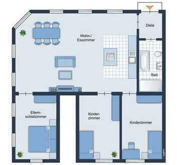 Altbauliebhaber aufgepasst! schöne lichtdurchlässige Erdgeschosswohnung auf ca. 145,00 m² in Essen