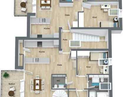 Dachgeschoss-Wohnung mit Balkon