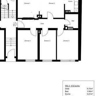 Stilvolle 5-Zimmer-Terrassenwohnung mit Balkon und EBK in Nebenstraße