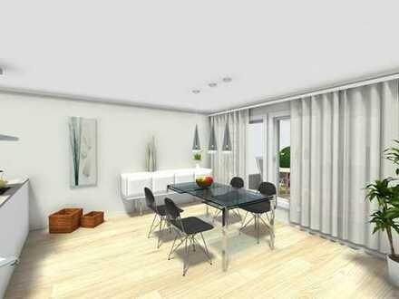 Energieeffizienzklasse A+: geplante Neubau-EG-Wohnung (barrierefrei) mit SW-Garten