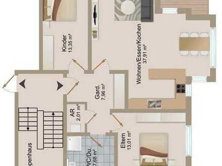 Attraktive 3,5 Zimmer-Wohnung mit Aussicht ins Grüne