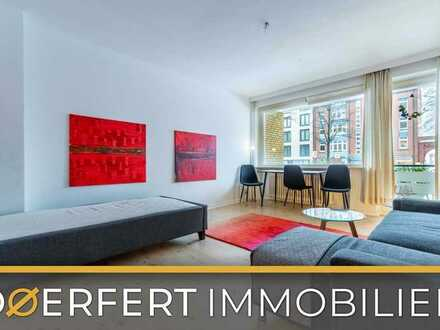 Hamburg - Ottensen   Wundervolle helle möblierte 1-Zimmer Wohnung mit Südloggia in zentraler Lage