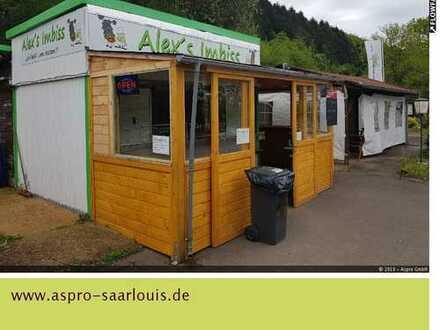 Saarfels! Durchgangsstraße Dillingen, Richtung Merzig! Freifläche mit Imbiss zu verkaufen!