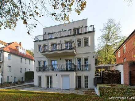 Wohnen am Wasser, 5 Zimmer Maisonette Wohnung im Neubau mit Garten und Wasserzugang