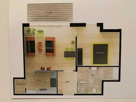 Neuwertige 2-Zimmer-Wohnung mit Balkon und Einbauküche in Rheinberg