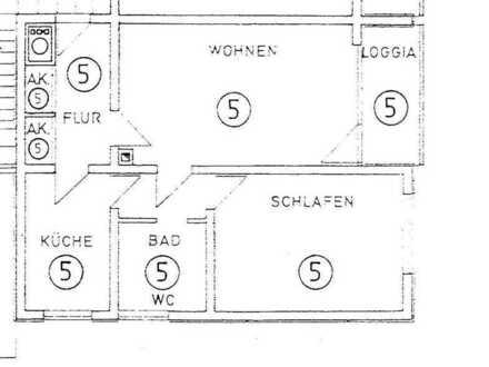 Schön geschnittene zwei Zimmer Wohnung in Breisgau-Hochschwarzwald (Kreis), Breisach am Rhein