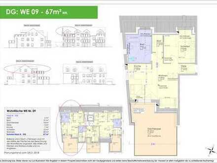 NEUBAU - 67m² Dachterrassenwohnung Ingolstadt/Süd - Provisionsfrei! (WE 09)