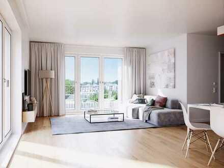 Ein Ruhepol inmitten des Stadtlebens: 3-Zi.-Wohnung mit idealem Grundriss, hellen Räumen und Balkon