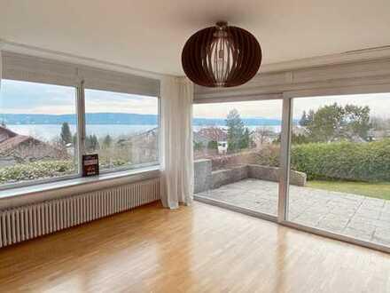 Sonnige Gartenwohnung mit See- und Alpenblick in Starnbergs Bestlage