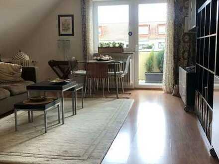 Gemütliche 2-Zimmer-Dachgeschoss-Wohnung mit Balkon