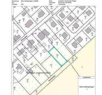 Baugrundstück für die Erstellung eines Einfamilienhauses in der Nähe von Stralsund zu verkaufen.