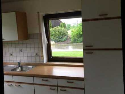 Gepflegte 3,5-Raum-Erdgeschosswohnung mit Terasse und Einbauküche in Buchheim (Kreis Tuttlingen)