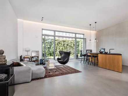 Ideal für Gewerbezwecke: Moderne Architektenwohnung mit Garten
