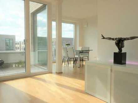Wohnen im Oldenburger Stadthafen - attraktive Dachgeschosswohnung mit Einbauküche & großer Terrasse