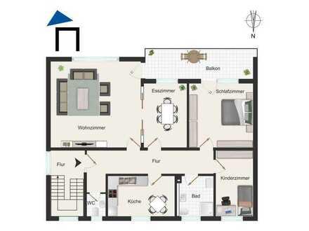 Ruhig gelegene 4 Zi. Wohnung mit Balkon