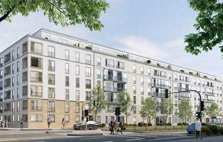 Durchdachte 3-Zimmer-Wohnung mit 2 Bädern und Süd-Loggia in Toplage in der Großstadt