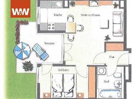 Sonnige 2 Zimmerwohnung mit Terrasse und ruhig gelegenem Gartenanteil