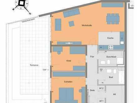 Stilvolle, geräumige 3-Zimmer-Terrassenwohnung in Feldafing