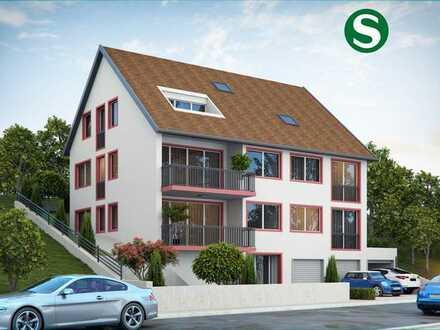 Neubau 3-4 Zimmer-Wohnung: Moderne lichtdurchflutete mit Balkon im OG