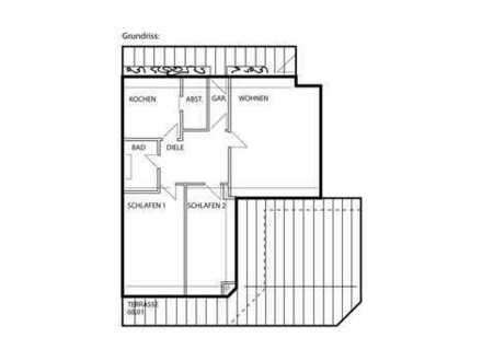 Schöne, geräumige drei Zimmer Penthouse-Wohnung in Memmingen, Innenstadt