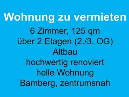 6-Zimmer-Wohnung, 125 qm, über 2 Etagen, zentrumsnah in Bamberg