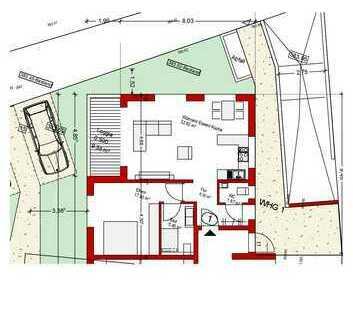 Sonnige Neubauwohnung Erdgeschoss Nr. 1