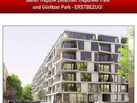 Exklusive Neubauwohnung in Top-Lage von Berlin Treptower Park, Görlitzer Park ERSTBEZUG!