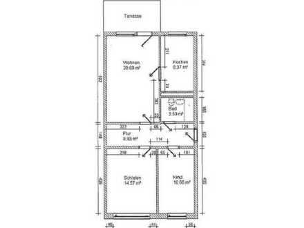 3-Raum-Wohnung mit Balkon im EG