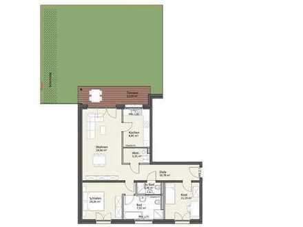 Erdgeschoss mit Gartenanteil - Wohnung A2