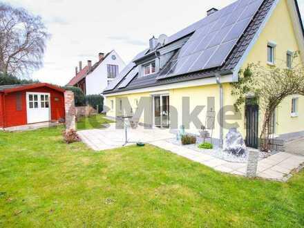 Umfangreich modernisiert, Photovoltaikanlage, SW-Terrasse: Komfortables 6-Zi.-EFH nahe Augsburg