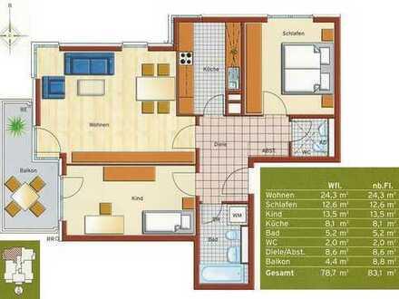 Baujahr 2009, gut geschnittene Wohnung, 4 OG