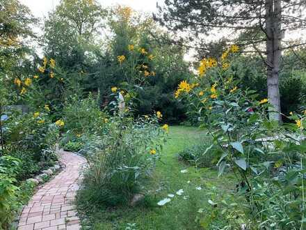 Helles freundliches Zimmer in Holzhaus mit Garten
