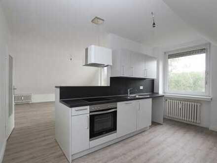 Zentrale modernisierte 2-Zimmer Wohnung im Grünen!