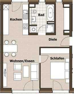 Schöne 2-Zimmer Wohnung mit 2 Balkonen am Donauufer
