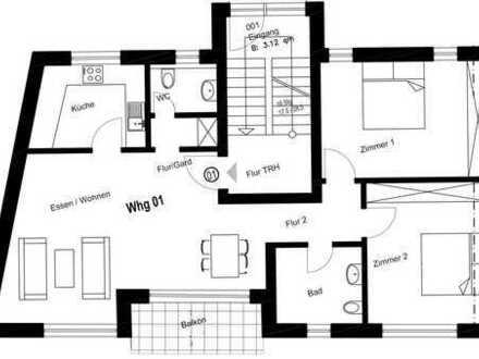 Schöne Neubau 3-Zimmer-Wohnung mit Balkon in Ober-Ramstadt