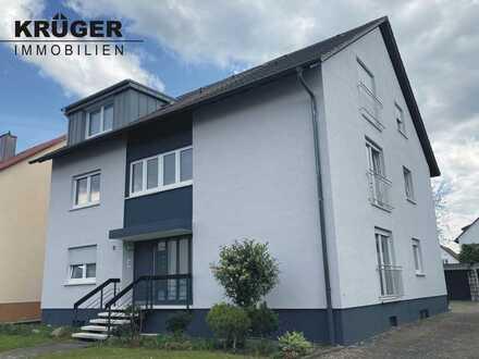 helle & gepflegte 3,5-Zi-Whg mit Balkon, Garage, Hobbyraum & Garten in Eggenstein / ab 01.07.2021