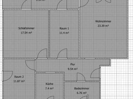 schöne 4-Zimmer-Hochparterre-Wohnung mit Balkon