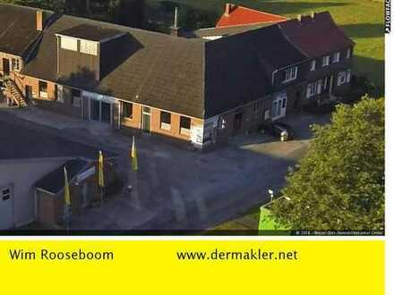 Dülmen Kreis Coesfeld – Zweifamilienhaus mit Gewerbehalle, Freifläche und Ausstellungsraum