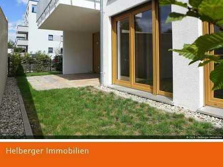 Gartenwohnung, barrierefrei mit offener Küche und opt. TG-Stellplatz