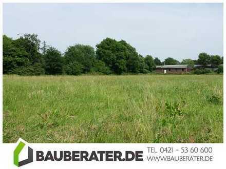 Bauplätze am Landschaftsschutzgebiet mit freiem Blick über Wiesen in Bockhorn